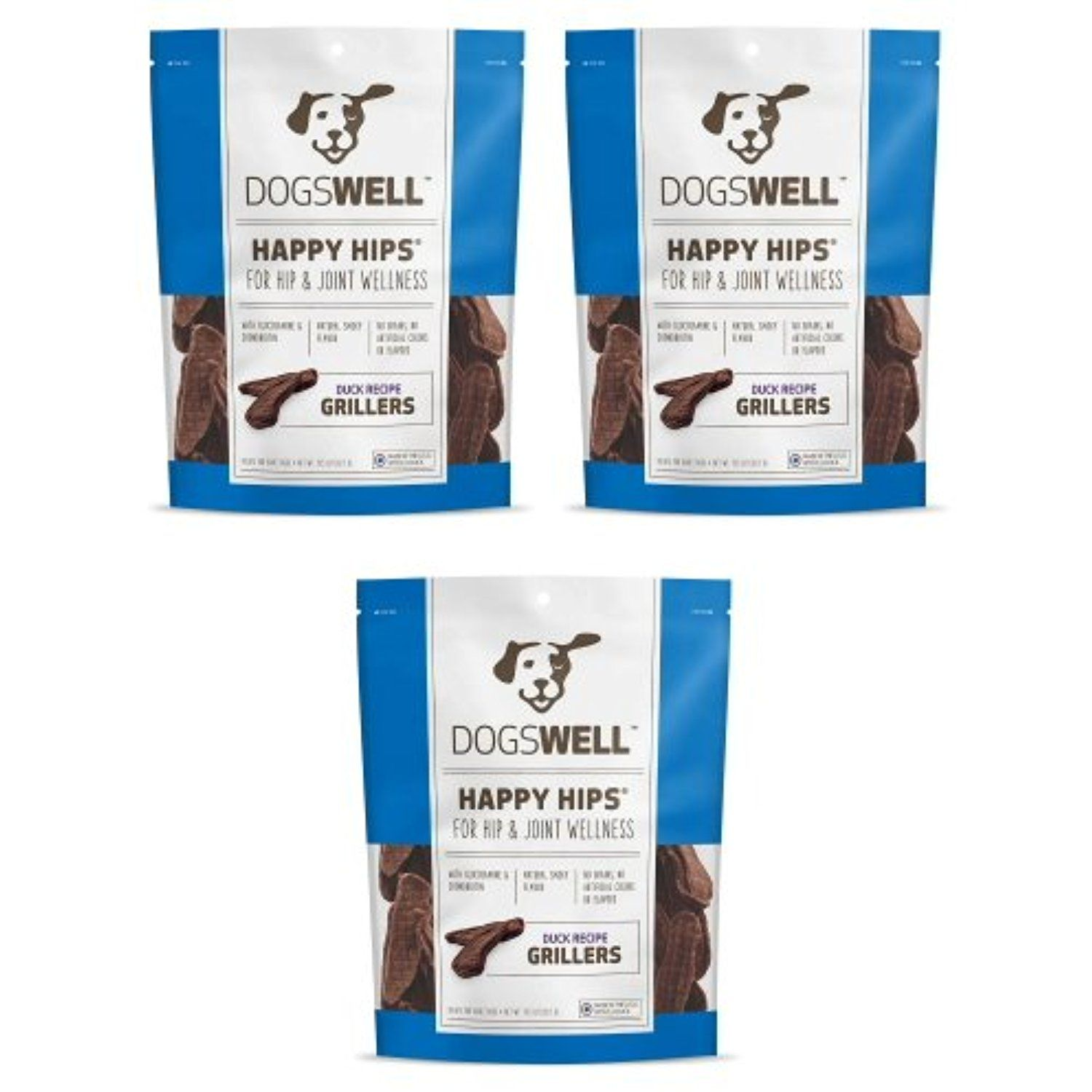 Dogswell Happy Hips Grillers Duck Tender Treats 2.53125lb