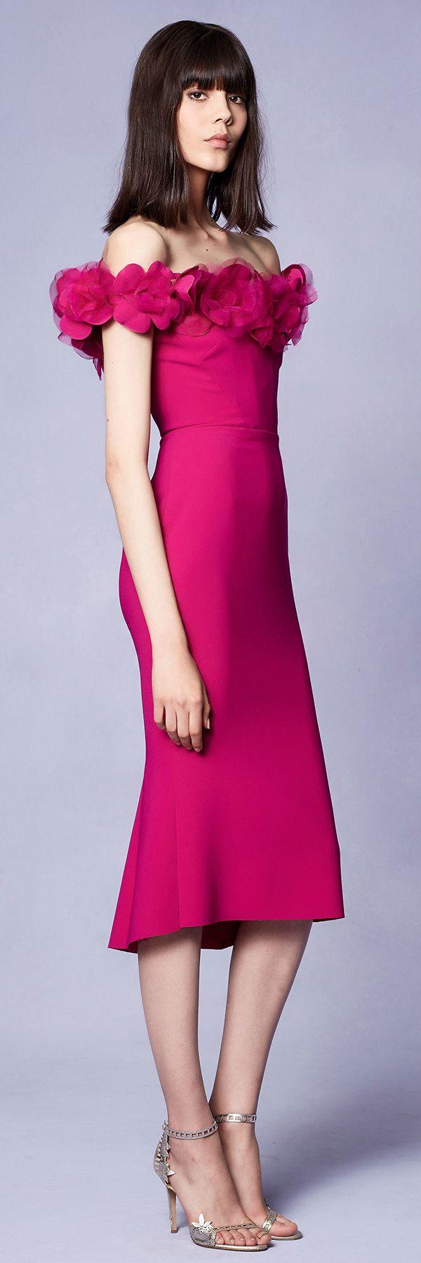 Marchesa Resort 2018 Collection | vestidos midi | Pinterest ...