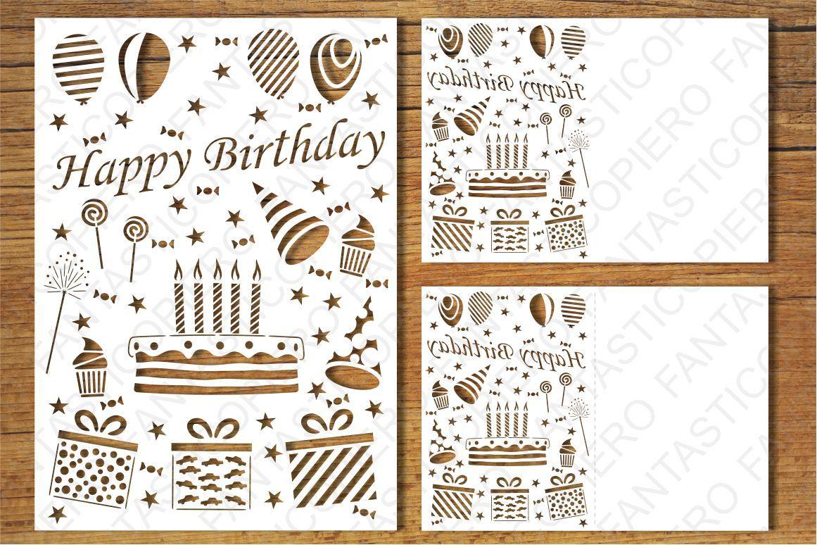 Happy Birthday card SVG files by FantasticoPiero