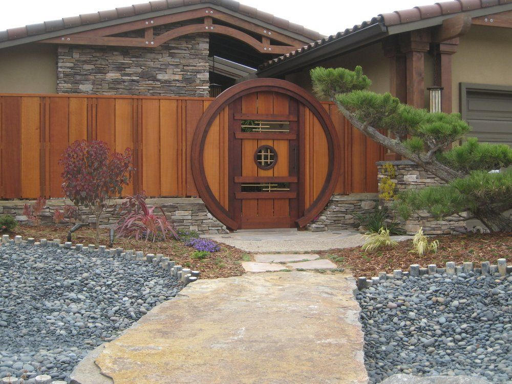japanese solid wood fence - Google Search