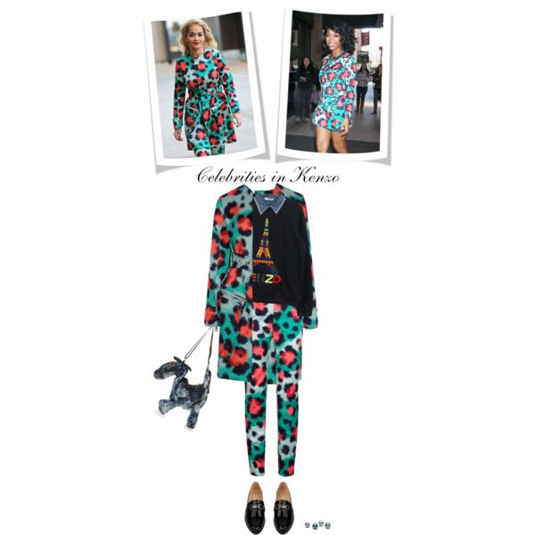 """Celebrities in leopard print kenzo"" by anitalolonga on Polyvore"