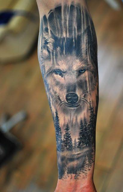 Erstaunliche Unterarm Wolf Tattoos Fur Manner Tattoo Tattoos