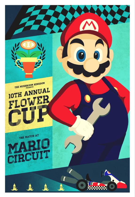 Mario Circuit Mario Kart Poster Series By Indy Lytle On Deviantart Super Mario Art Mario Art Mario