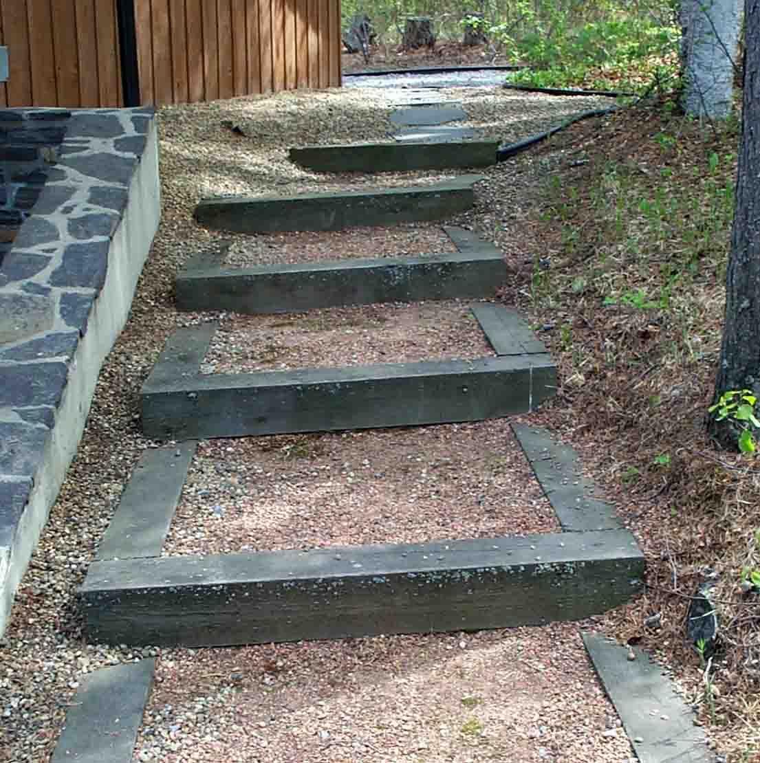 Railroad Tie Stairs Deer Lake Ideas Pinterest