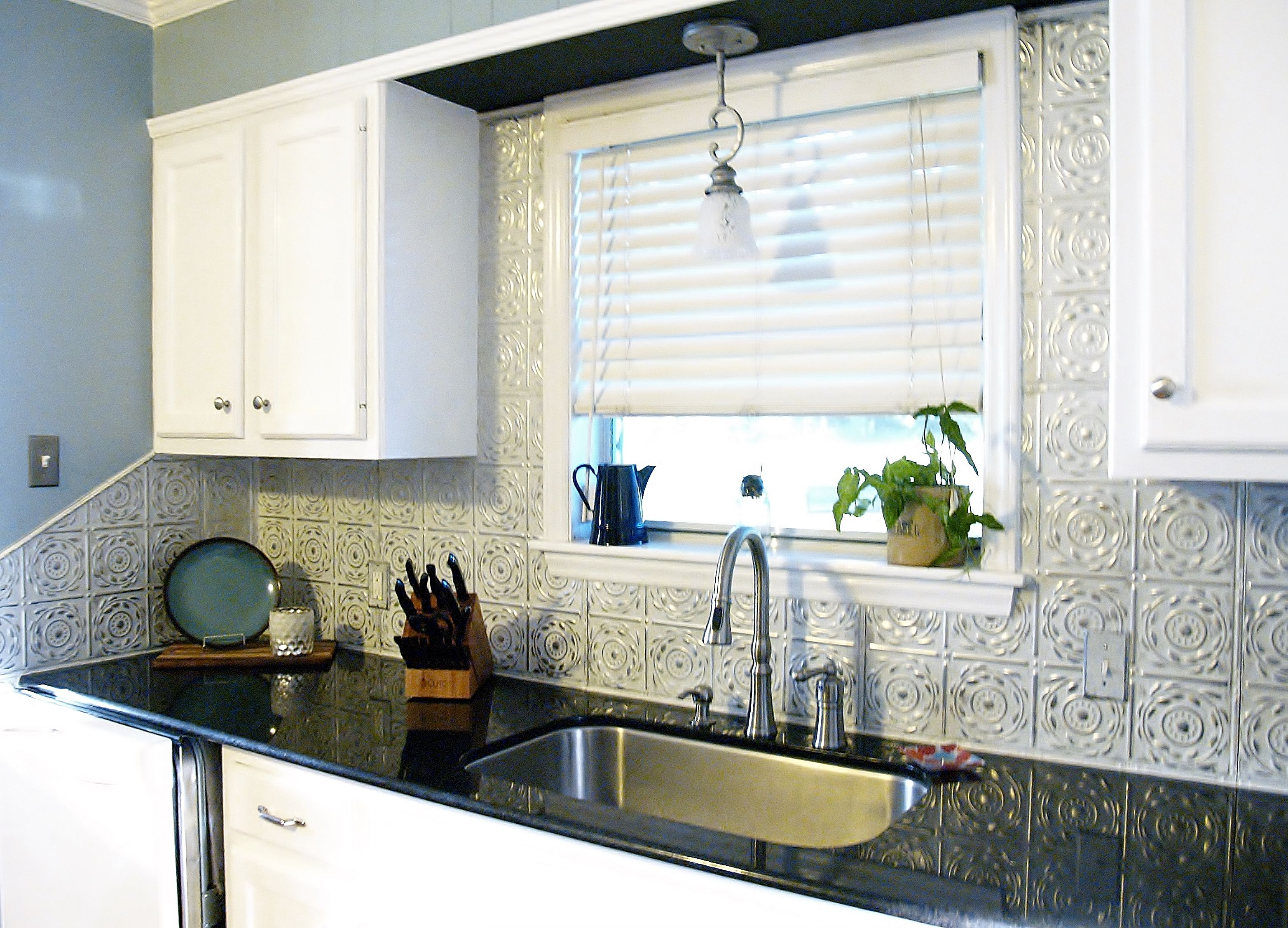 Artisan Silver Washed White Pattern #17 Nail-Up Backsplash | tin ...