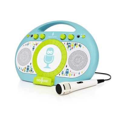 Singing Machine iSM398BG Tabeoke Portable Bluetooth Karaoke System, Blue Green #karaokesystem