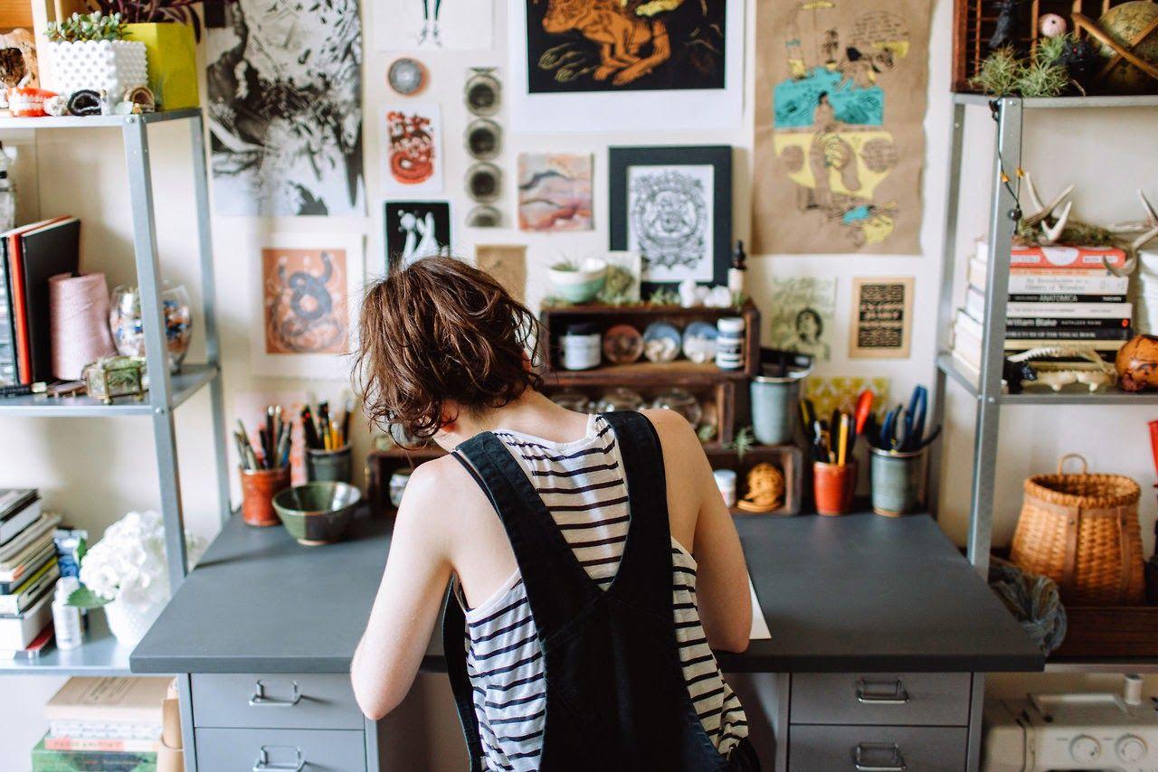 The Workspace Of... Artist Joëlle Workman