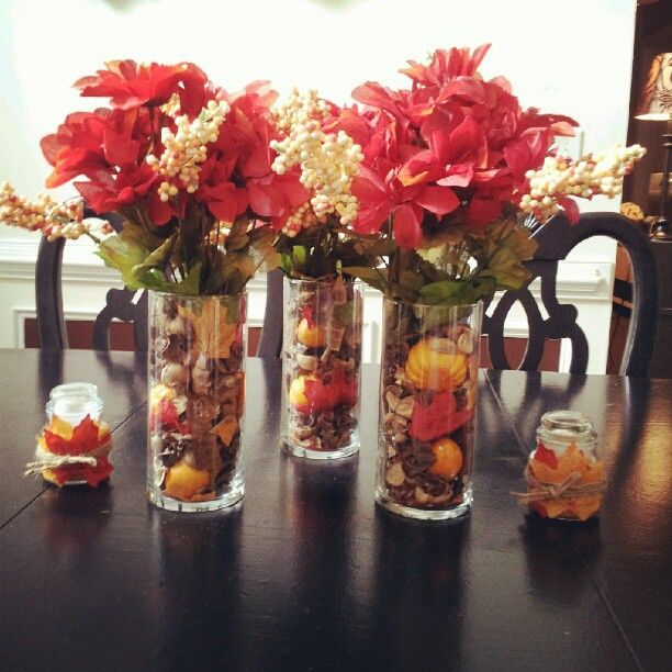 Fall Wedding Decoration Ideas On A Budget: Dollar Tree Fall Centerpiece
