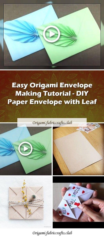 Photo of Easy Origami Envelope Making Tutorial – DIY Paper Envelope with Leaf – Easy Or…