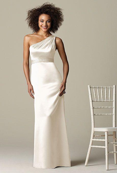 White Bridesmaids Dresses We Love | Floor length dresses, White ...