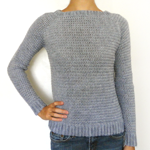 fa595a816 THE perfect sweater! No sewing Crocheted in one piece!