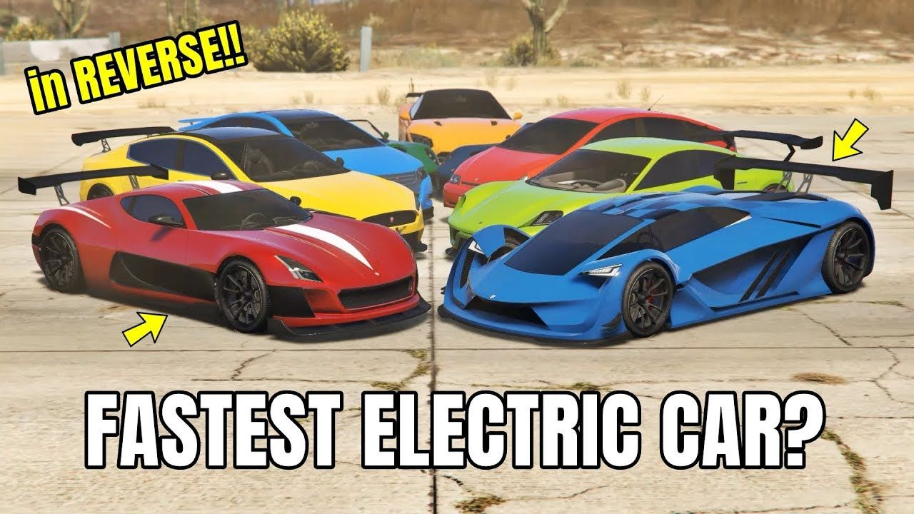 GTA V Online Which is fastest Electric car? in REVERSE