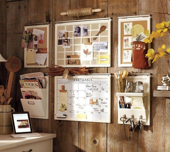 20 Diy Memo Board Ideas All Diy Masters Wall Organization Home Organization White Pottery