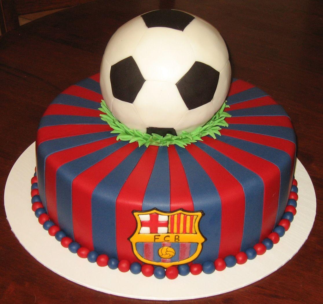 Let Them Eat Cake Barcelona Football Fiestas Pinterest - Football cakes for birthdays