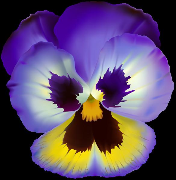 Violet Flower Transparent Clip Art In 2020 Flower Png Images Pansies Flowers Flower Clipart