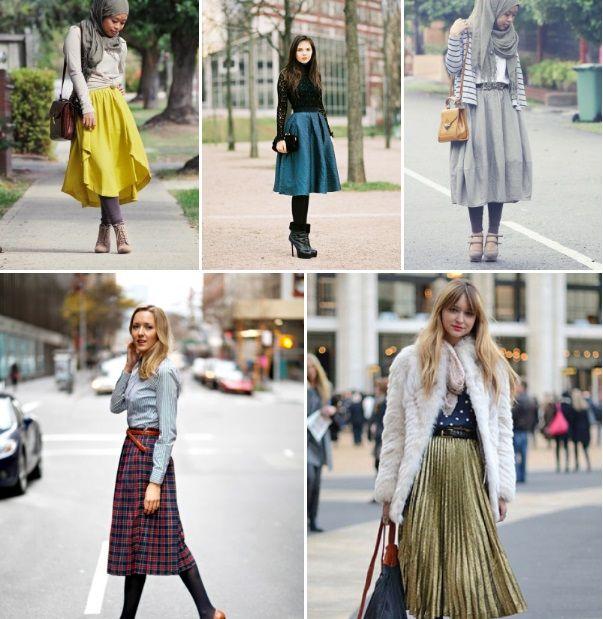 0a44515f5 How to Wear a Midi Skirt - The Muslim Girl | Hijab | Skirts, Fashion ...