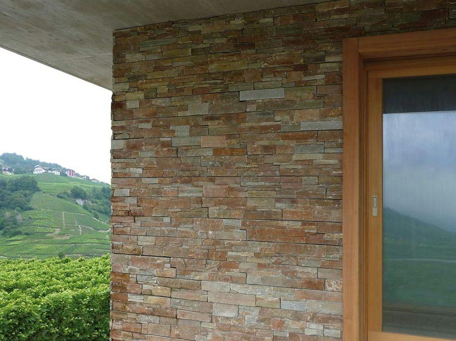 revestimiento de fachada de piedra natural de piedra