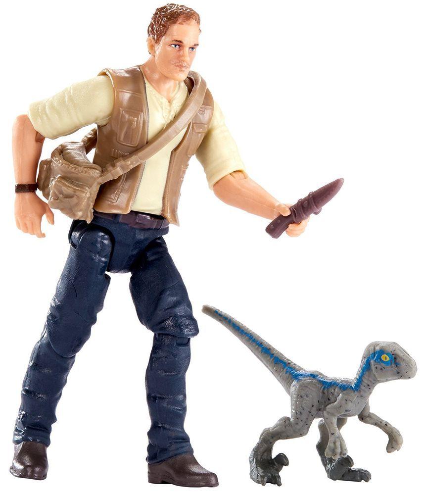 bleu Jurassic World FMM01 Basic Figure Owen et bébé