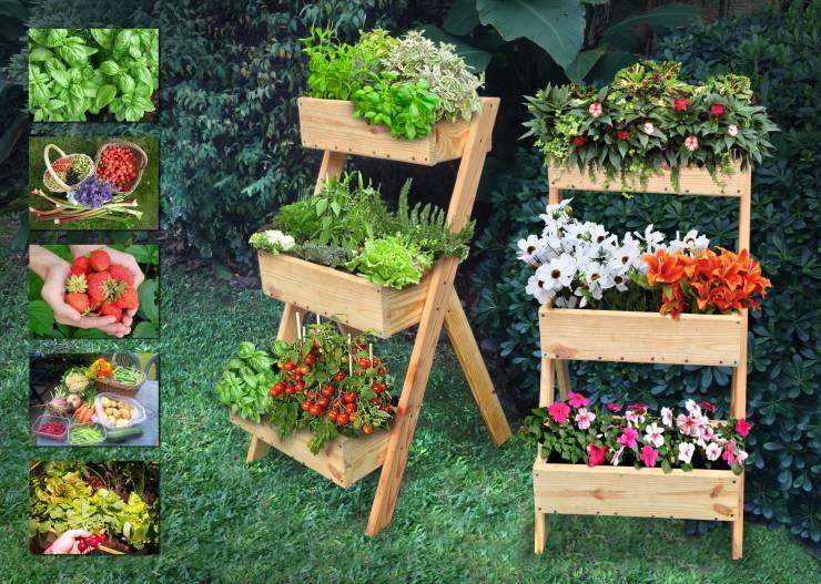 Exteriores verdes ¡10 macetas de madera fabulosas! Jardín moderna
