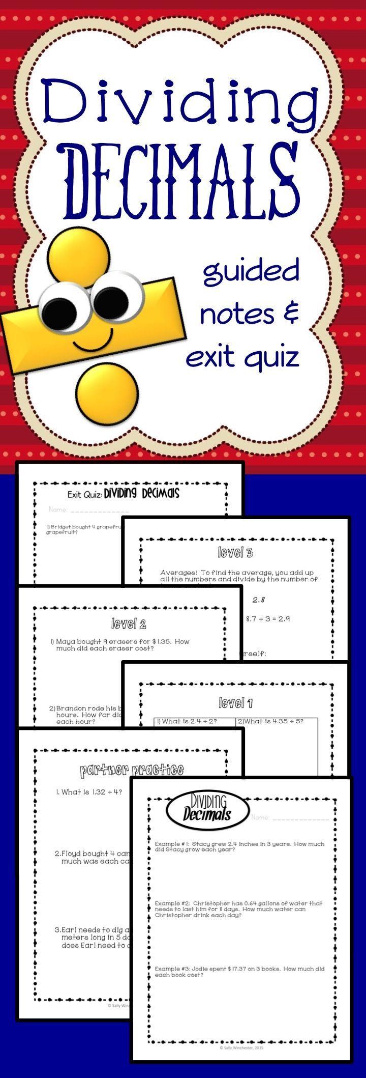 5th grade dividing decimals complete lesson packet exit quiz 5 nbt 7 educational tools. Black Bedroom Furniture Sets. Home Design Ideas