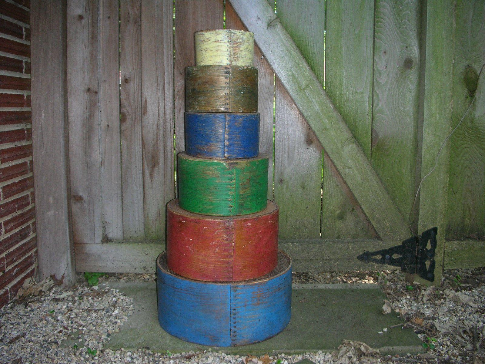 Antique Primitive New England Painted Set of 6 Dry Measures Grain | eBay