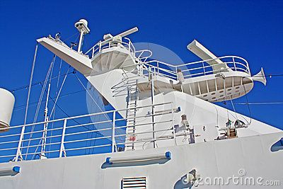 The Radar And Communication Tower On A Cruise Ship Travel - Cruise ship trackers