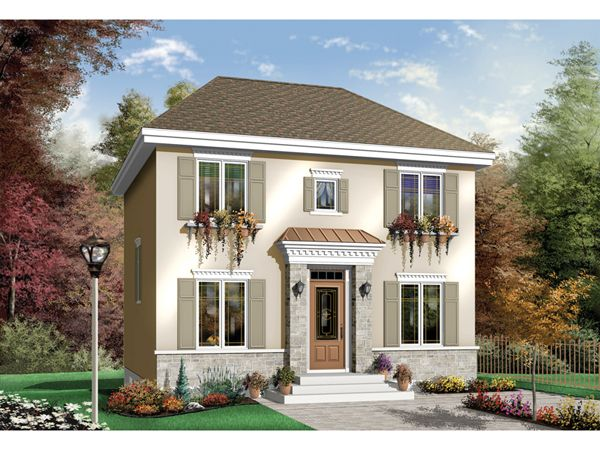Belden Way Georgian Style Home Colonial House Plans French Country House Plans Country Style House Plans