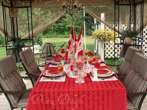 Canada day table decorations centerpieces and summer