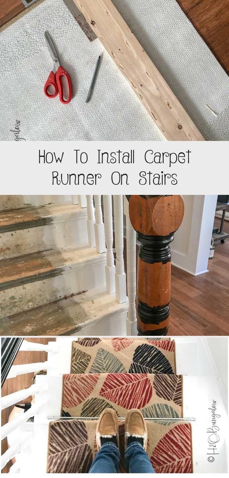 Diy Tutorial On How To Install Carpet Runner On Stairs And Wood