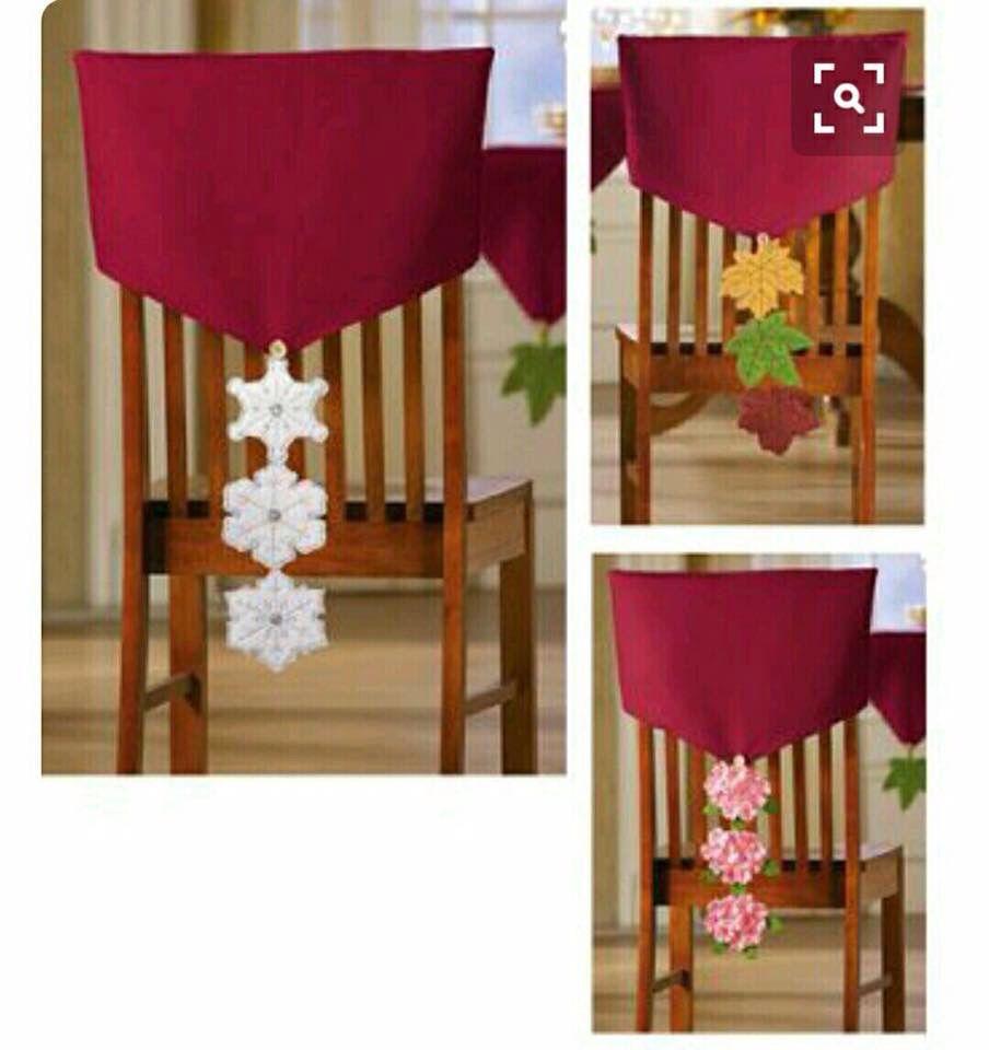 Pin de piko101 m en merry christmas pinterest cubre sillas detalles navide os y - Faldones para sillas ...