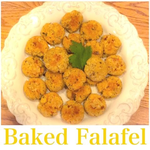 A HAPPY HARVEST: Baked Falafel