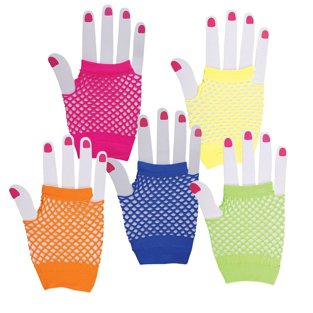 Fingerless Fishnet Gloves-80s to the Max