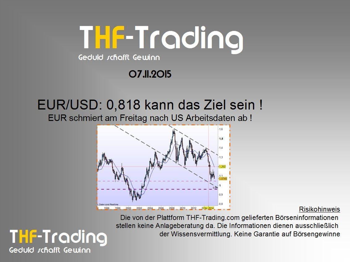 EUR/USD: 0,818 kann das Ziel sein. EUR schmiert am Freitag nach US Arbei...