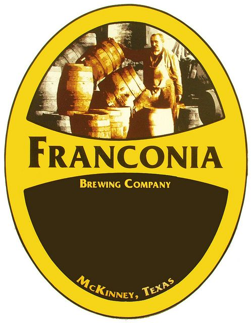 The Franconia Brewing Company logo.    The Franconia Brewing Company logo contains a vintage photo of the owner's Great Grandfather Schaubert.    Franconia Brewing Company's founder, Dennis Wehrmann, comes from a great beer brewing heritage, and while he Logo