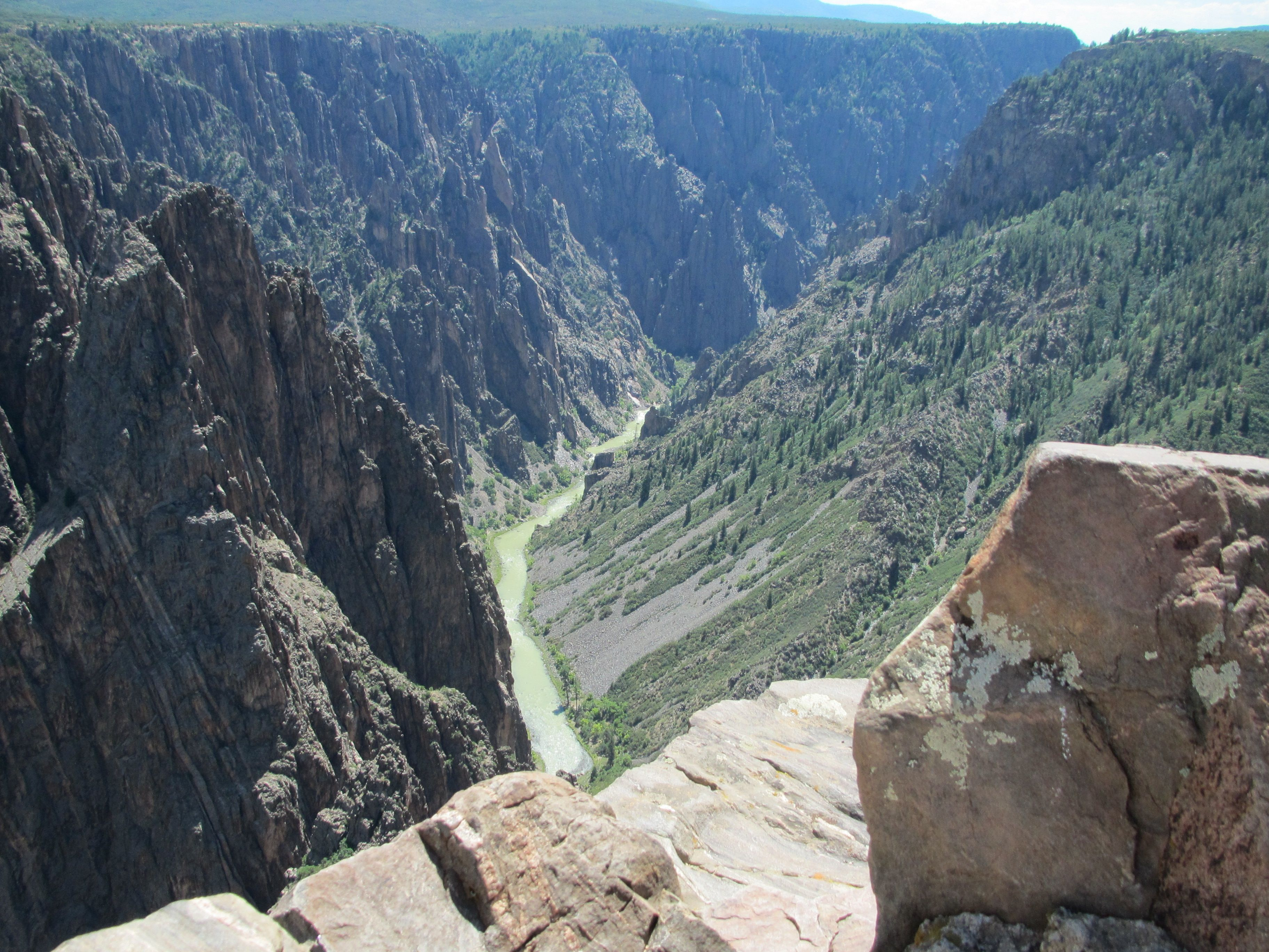 Looking down into Black Canyon at Gunnison NP, Gunnison, CO