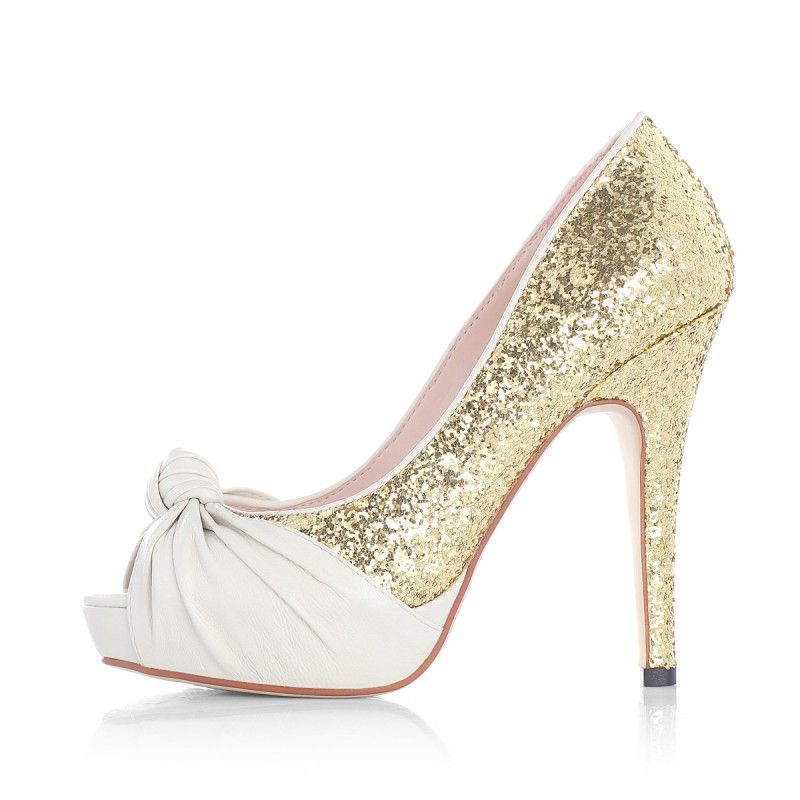 Amazing Beautiful Shoes | Beautiful Pleated Colorblock Peep Toe Sparkly Wedding  Shoes H246 100 Idea
