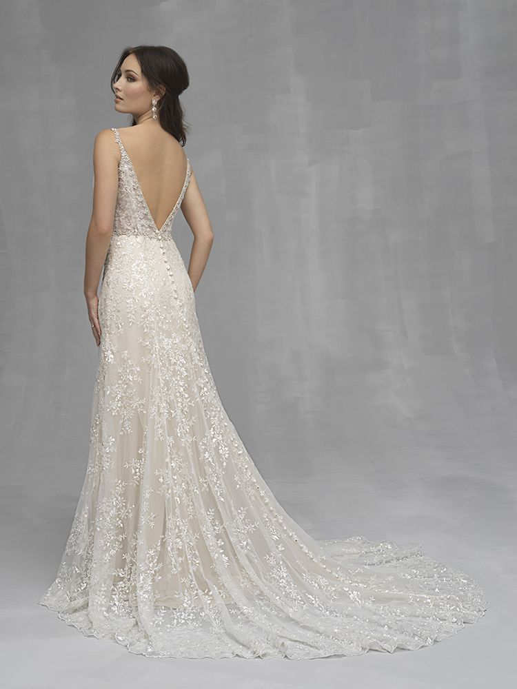 88dad0e798 Glam Beaded Lace Wedding Dress from Allure Bridals