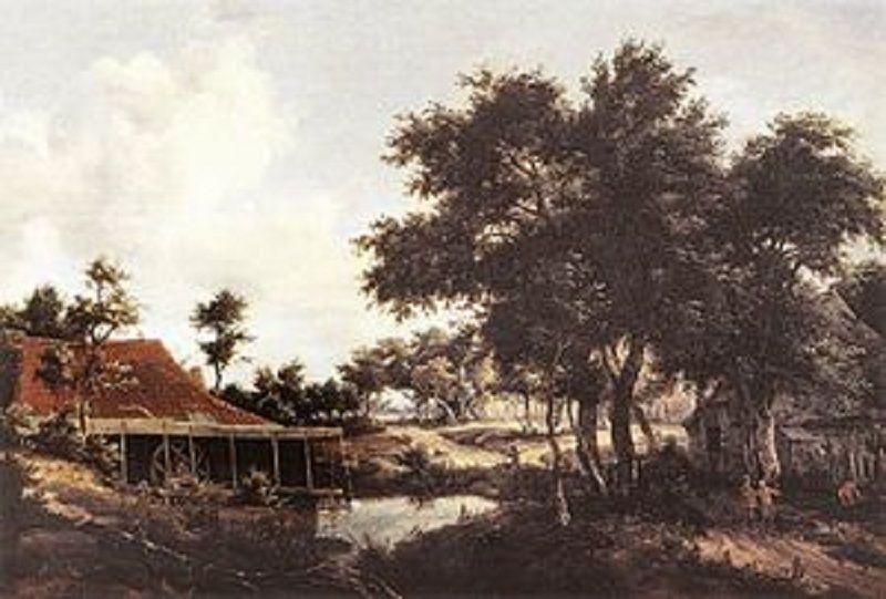 Meindert Hobbema 1648-1698The Water Mill 1663