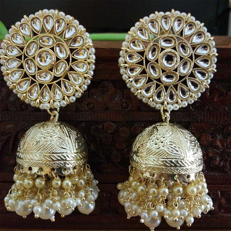 gold jhumka pink enamel jhumka Indian earrings gold Bali jhumka gold Bali earrings Pakistani earrings Punjabi jhumka Indian wedding earrings