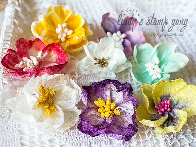 Flowers that i make from wet napkins and paints lindys flower wet wipes flowers tutorial by evgeniya zakharova lindy stamp gang mightylinksfo Images