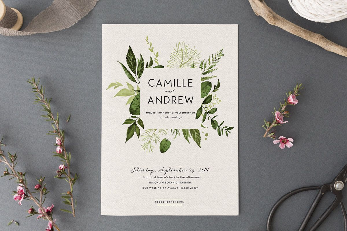 Woodland Wedding Invitation Set,Printable Forest Wedding Suite ...
