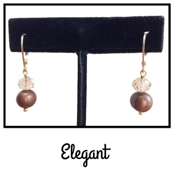 """Sterling Silver Earrings Gold plated, sterling silver with lever back ear wires. 3/4"""" long. Jewelry Earrings"""
