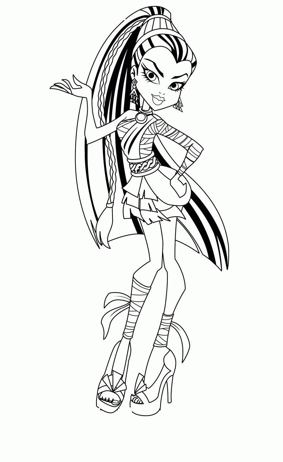 Monster High Coloring Pages Pdf Monster High Coloring Pages Luxury Monster High Col In 2020 Monster Coloring Pages Coloring Pages For Teenagers Coloring Pages For Kids