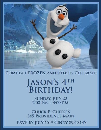 Disney's Frozen Invitations #5