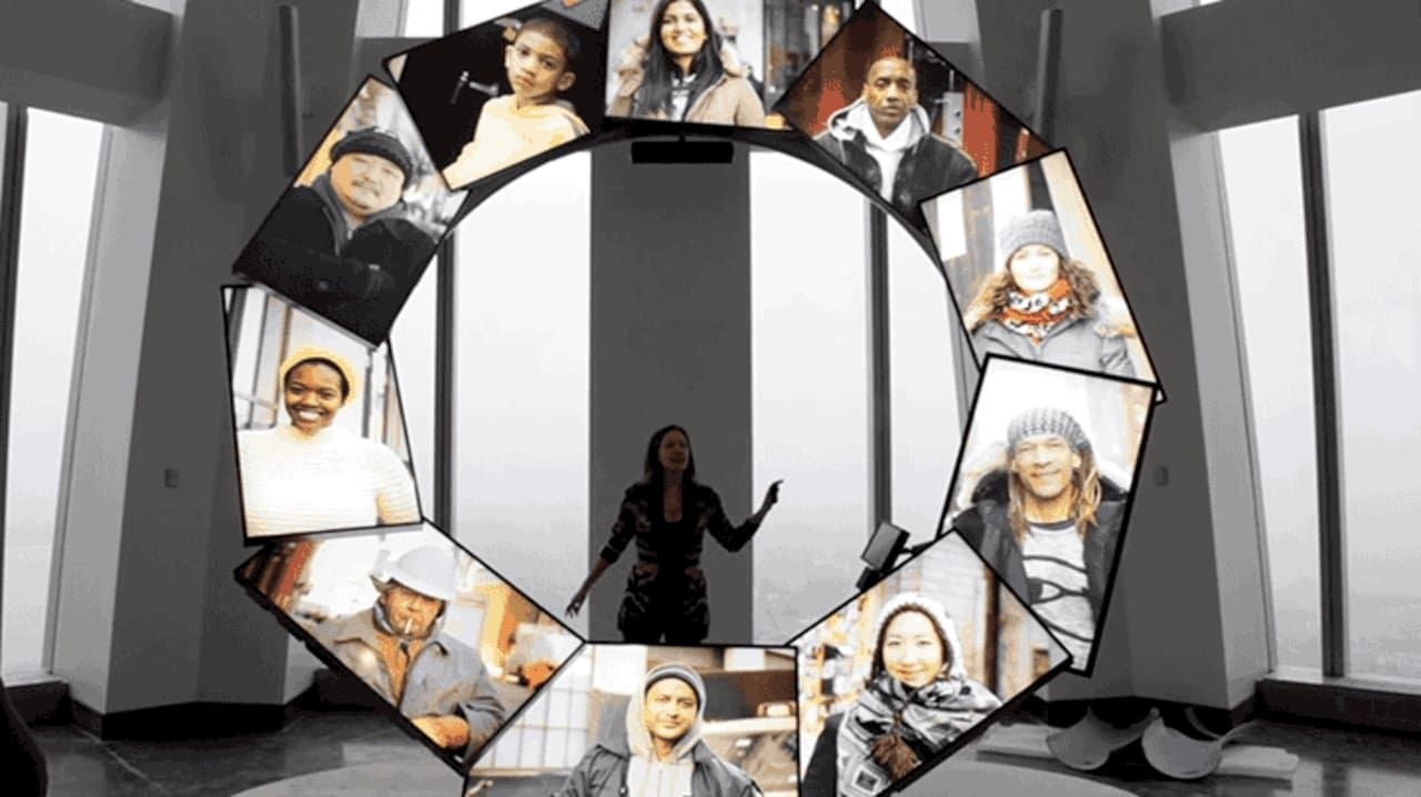CityPulse is a 14-foot ring of LCD screens developed by Local Projects