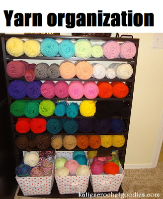 Yarn Storage...makes my heart sing! - Katie's Crochet Goodies
