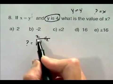 Sat Math Exercise Fractional Exponent Problem Check Out My Friend S Sat Prep Videos Math Exercises Sat Math Mathematics Education