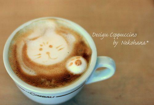カプチーノデザインで猫を書いてきたよ~♪  ウーマンエキサイト みんなの投稿