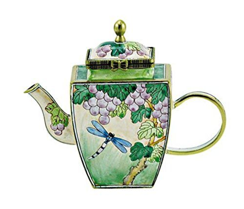Perfect Kelvin Chen Enameled Miniature Tea Pot  Dragonfly Kelvin . Awesome Design