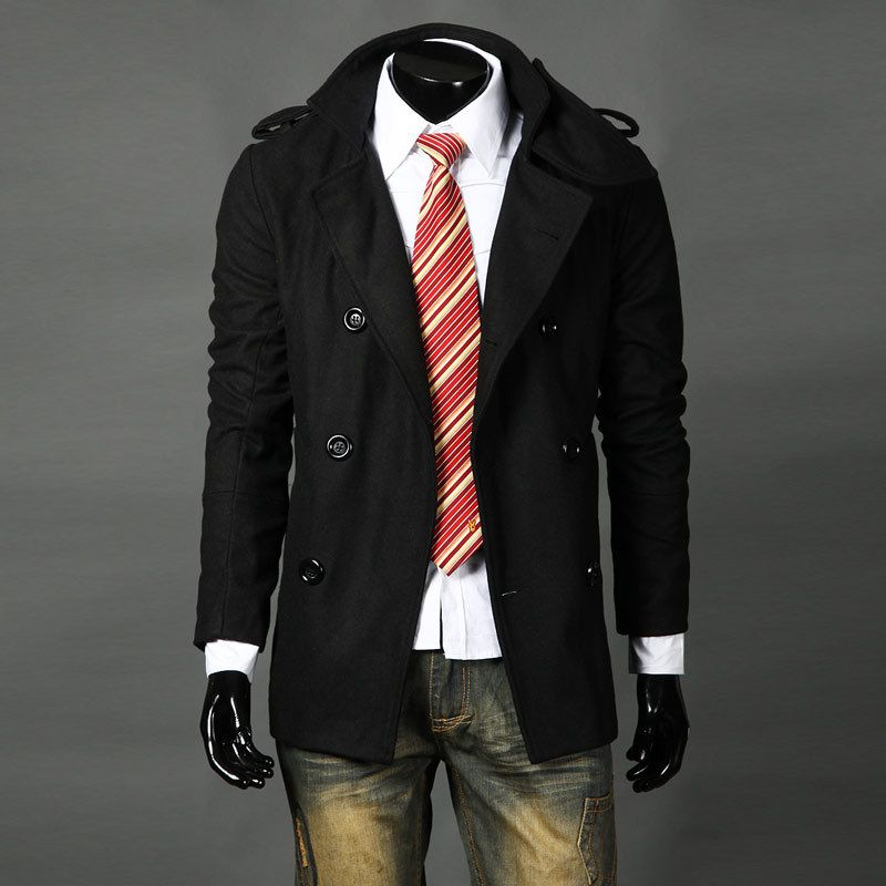 Black trench coat trench coats for men leather trench coat